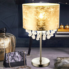Luxus LED Tisch Lampe Beistell Lese Kristall Ring Dielen Leuchte verstellbar