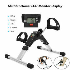 Folding Exercise Bike Stationary Indoor Cycling Cardio Gym Workout w/Lcd Monitor