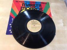 MARILYN MONROE FRENCH VINYL RCA RECORDS RARE FRENCH EDITION LA VOCE LE MUSICHE