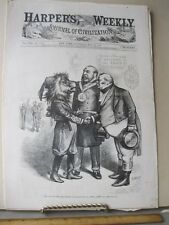 Vintage Print,LION OF BEST SOCIETY,May 1875,Th.Nast,Harpers,Political Cartoon