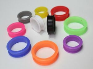 1x 24-76mm Large Sizes Silicone Gauges Earring Flesh Tunnel Ear plug Expander