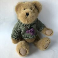 Boyds Bears Riesling Beardeaux Head Bean Collection Teddy Green Sweater Tag