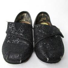 TOMS Baby Infant shoes Black 5 Adjustable Strap