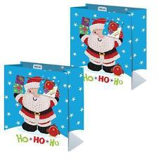 Pack 2 Noël Petit sac cadeau 26.5cm x 21.5cm x 10cm - tricoté personnage