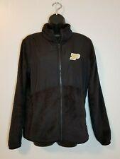 Purdue Champion Large Woman Black Fleece Jacket Sweatshirt Full Zip Long Sleeve