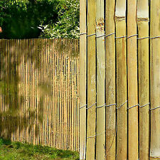 BISEN Bamboo Slat Screening  1.2 x 4 m Garden Fence Peeled Roll Screen Wind Sun