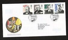 GB 1995 Pioneers of Communications FDC London EC postmark set stamps