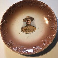 More details for antique boer war lieut colonel r.s.s baden powell boy scout founder 22 cm's dia