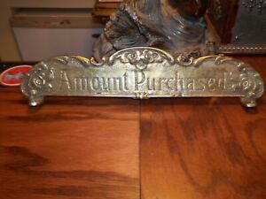 National Cash Register REPRODUCTION Brass Top Sign  NCR