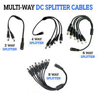 2.1mm / 5.5mm Multi-Way DC Splitter Cables For CCTV Camera's Power Adapter