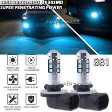 2x Ice Blue 3030SMD 881 862 884 885 Bright LED Bulb Fog Driving Light Lamp 8000K
