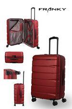 Franky ABS13 Reisekoffer Gr. M, 4x360° Doppelrollen, TSA-Schloss, Dehnfalte, rot