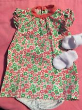 "Lakeside Collection Doll-Flower Gown & Slippers  fits American Girl/18"" doll"