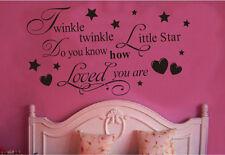 Twinkle Little Star Decals Vinyl Art Mural Wall Sticker Kids Girl Room Decor new
