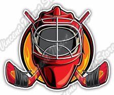 "Ice Hockey Goalkeeper Goaltender Goalie Mask Car Bumper Vinyl Sticker Decal 4X5"""