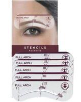 5 Eyebrow Stencils Shaper Grooming Kit Brow MakeUp Template Tool Reusable 5Sizes