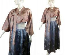 Vintage Chic Korean Silk Brocade Hanbok Asian Jacket Skirt DressJeogori Costume