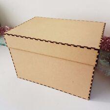 CHRISTMAS PLAIN WOODEN BOX - art hand craft gift box big small paint xmas post