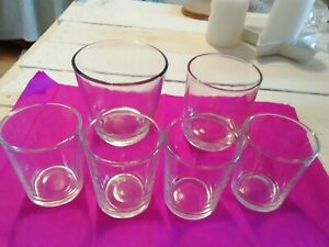 GLASS CANDLE VOTIVES FOR CANDLES/TEA LIGHTS