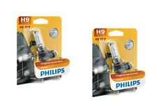 2x H9 12V 65W PGJ19-5 Vision Original equipment Philips