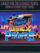 AMERICA'S FUNNIEST PEOPLE-THEME PIANO/V/GUITAR CHORDS SHEET MUSIC DAN SLIDE RARE