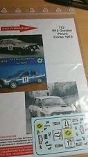 Decals 1/43 Renault 12 Gordini Pironi Tour de Corse 1975