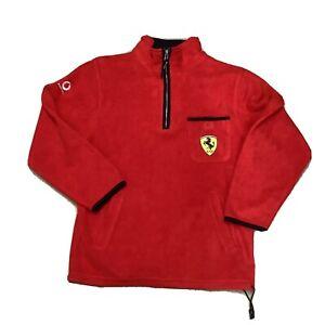 ferrari 1/4 Zip Pullover Fleece Jumper Sweater Vodafone Logo Jumper Smock M