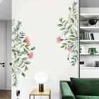 Flower Green Plant Leaf Wall Art Stickers Vinyl Decals Mural Home Decoration New