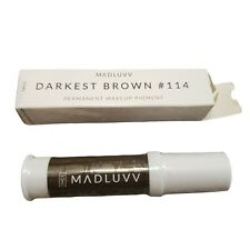 Madluvv Darkest Brown 114 - Best Microblading Ink, Works with Permanent Makeup