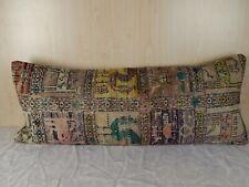 16''X 40'' Bohemian Bedding Kilim Pillow Cover,Animal Pattern Woven Bed Pillow