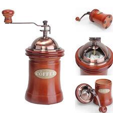 Vintage Manual Coffee Bean Hand Grinder Grinding Machine Wooden Retro Burr 2018