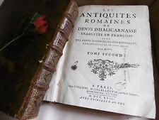 HALICARNASSE ( DENYS ) LES ANTIQUITES ROMAINES  1723   EDITION ORIGINALE