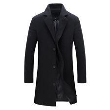 Fashion Men's Wool Coat Winter Warm Trench Coat Outwear Overcoat Long Jacket hot