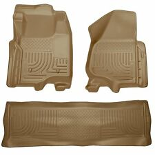 Husky Liners WeatherBeater Floor Mats - 3pc - 98713 - Ford F250/F350/F450 - Tan