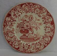 "ROYAL DOULTON china POMEROY RED pattern Salad Plate - 8-5/8"""