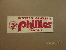 MLB Philadelphia Phillies Celebrate 100 Years B.Sticker