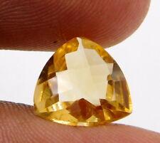 loose natural gemstone Citrine Trillion Cut10mm wonderful 3 cts 1pcs B-279