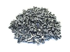 LEGO Dark Bluish Gray Plate Modified 1x2 Pin Hole on Top Lot of 100 Parts Pieces