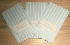 3 X YANKEE CANDLE PAPER BAGS BLUE & WHITE BRAND NEW