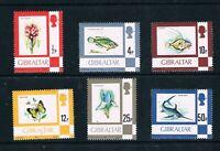 Gibraltar 1977-80 Fish, Flowers - Chalk Paper SC 340/353 [SG 374a/387a] MNH 20 B