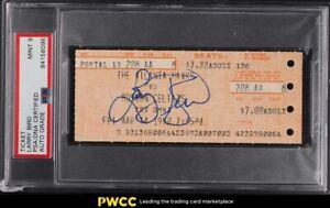 1980 Larry Bird Full Ticket Rookie Season PSA/DNA AUTO 9 MINT