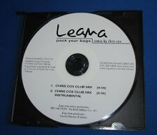 LEANA Pack Your Bags CHRIS COX REMIXES 2 Versions CD Promo Club & Instrumental