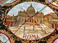 Vintage ROMA Acetate  Women's Scarf 29 x 29 made in Italy Historic Sites
