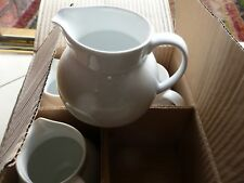 ONE WEDGWOOD MILK CREAM JUGS WHITE CERAMIC 1.25 PINTS 5 INCHES X 3 INCHES NEW