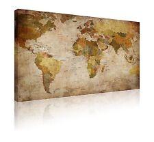 """20"""" x 30"""" fantastica Olde alla ricerca di stile del mondo Atlante Mappa Foto su Tela Gratis P&P"""