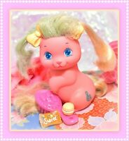 ❤️Vtg Mattel Little Pretty Kitty PUPPY My Little Pony Melody Glitter 'N Grow❤️