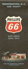 1962 PHILLIPS 66 Road Map WASHINGTON DC Chevy Chase Alexandria Georgetown McLean
