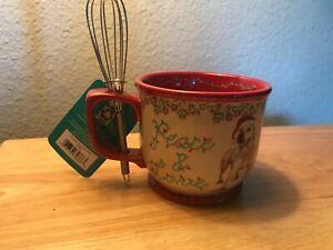 Pioneer Woman Christmas Mug with Mini wisk