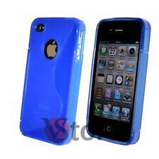 Cover Custodia Gel Silicone Blu S-Line Per APPLE iPhone 4/4G/4S