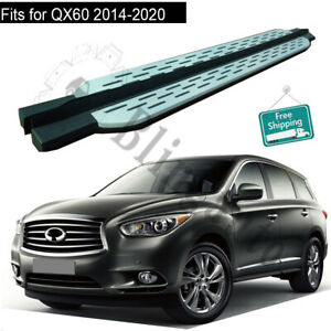 Fits for Infiniti QX60 2014-2020 2PCS side step running board pedals protect bar